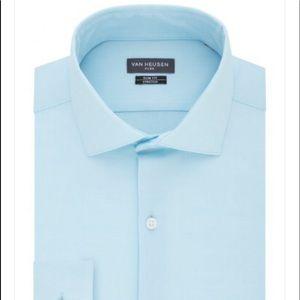 VanHeusen Long Sleeve Light Blue Slim Fit ButtonUp